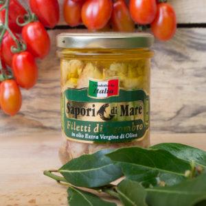 sapori mare filetti sgombro olio oliva