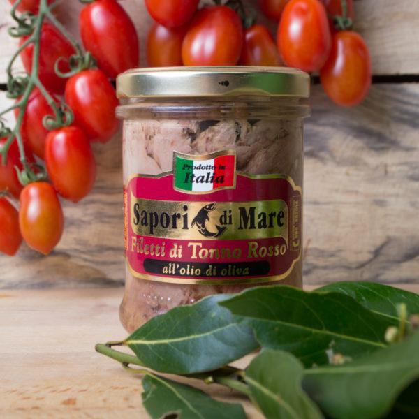 sapori mare filetti tonno rosso olio oliva