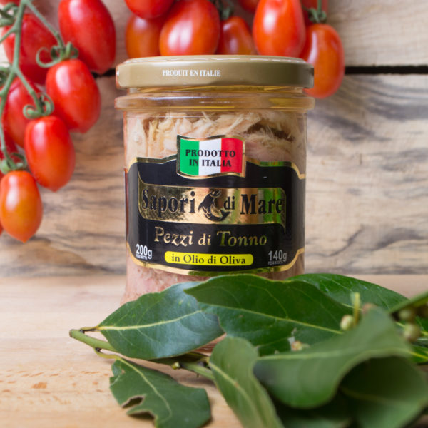 sapori mare pezzi tonno olio oliva